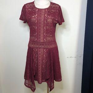 burgundy lace BCBG Maxazria thanksgiving dress